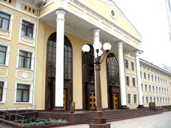 Moscow State University's imposing Tashkent campus. Photo: Moscow State University in Tashkent.