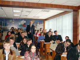 Students at the Plekhanov Russian Academy of Economics and other prestigious foreign university branches in Tashkent say they can't get away with skipping class and paying teachers for good grades. Photo: Plekhanov Russian Academy of Economics in Tashkent.