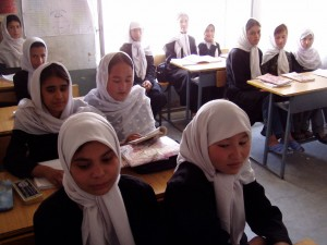 Kabul girls' school.  Photo by The Children of War, an organization that provides basic education and job training in Afghanistan.  Flickr.  Creative Commons licensed.