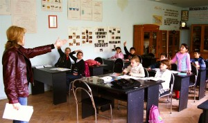 Classroom with children in Georgia.