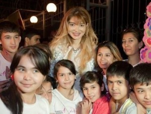 Gulnara Karimova is hated by many, but the glamour she projects is a ray of light to young people in Uzbekistan looking for an alternative to their traditional culture. Photo from the Fund Forum Facebook page.