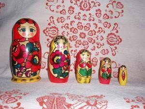 Matroshka dolls, a cultural symbol of Russia. Photo from Wikimedia.