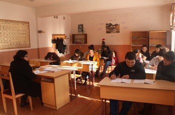 A secondary school class in Teghut village, about 60 miles north of Yerevan. Photo by Anna Muradyan.