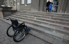 Wheelchair users have no access to this school in Kaunas. Photo courtesy of www.lzinios.lt/Rita Stankeviciute.