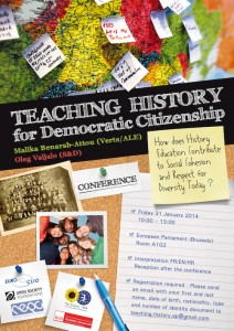 'Teaching History for Democratic Citizenship' poster.