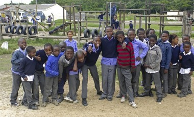Students at the Lukhanyo Primary School.    The school administrator/principal gave verbal consent for personal and internet use, as well as any use for fundraising on behalf of the school. This file is licensed under the Creative Commons Attribution-Share Alike 3.0 Unported license.