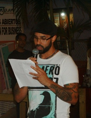 Poet José Ernesto Delgado.
