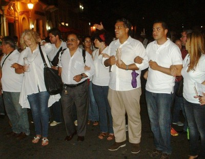 "Artists at the ""Poetas en Marcha"" event in Old San Juan."