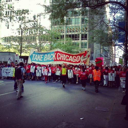 2012 Chicago Teachers Union Strike by MisterJayEm.  CC- license-3.0