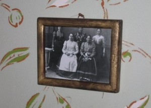 A photo of a group of Bunjevac women hangs in an early 20th century Bunjevac farmhouse museum in southern Hungary, near the border with Serbia. Photo from www.bunjevci.com.