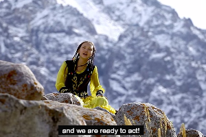A video made by the Girl-Activists of Kyrgyzstan to celebrate International Girls Day. Image from a video from Devochki Aktivistki Kyrgyzstan/YouTube